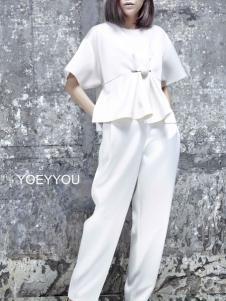 YOEYYOU 游悦白色套装