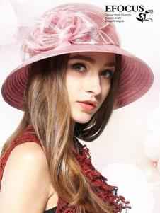 EFOCUS伊点2016新款粉色礼帽