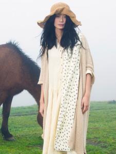 因为ZOLLE女装春季长款棉麻开衫
