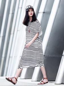 ZH条纹连衣裙