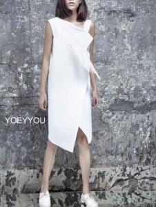 YOEYYOU 游悦白色连衣裙