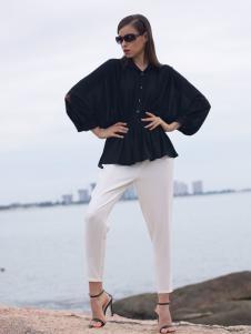 2016诺娜莉新款黑色外套