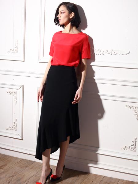 ECA女装夏季新款拼接连衣裙