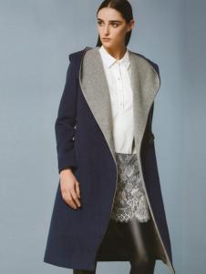 依楠毛呢大衣