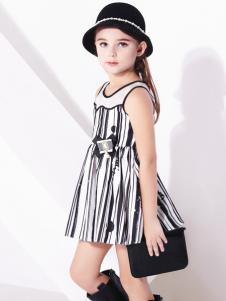 巴拉邦童装新款条纹女裙