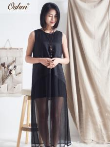 欧尚恒美黑色连衣裙