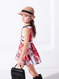 巴拉邦童装新款花色女裙