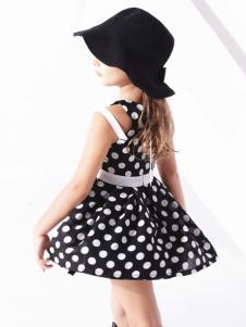 巴拉邦童装新款波点连衣裙