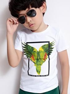 2016越也童装白色T恤