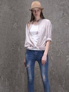 范可儿2016新品条纹衬衫