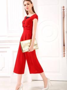 欧若朵尔红色连体裤