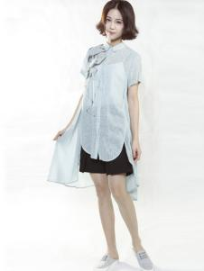 味道2016夏装新品棉麻衬衫