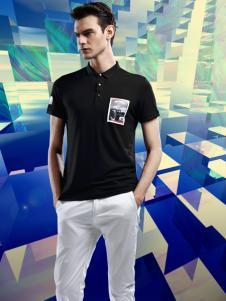 魔斗士男装2016新品带领黑色T恤