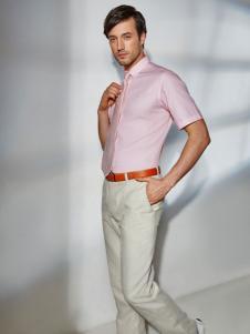 百富粉色衬衫