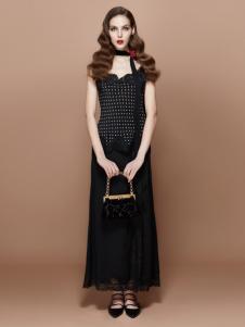 TITI女装新品黑色长裙