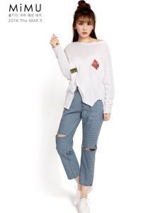 2016米缪白色T恤