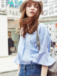 2016衣香丽影蓝色衬衫