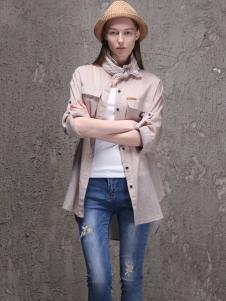 范可儿2016新品灰色衬衫