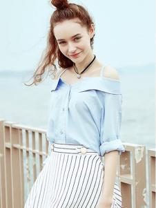 2016衣香丽影露肩衬衫