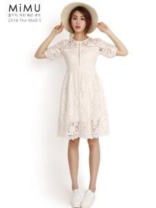 2016米缪白色连衣裙