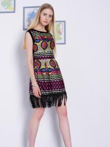 2016然可时女装新款花色连衣裙