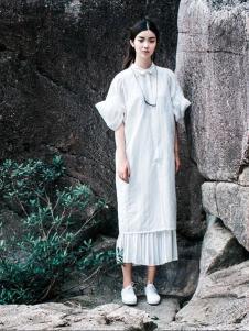 一席之地2016新品白色长裙