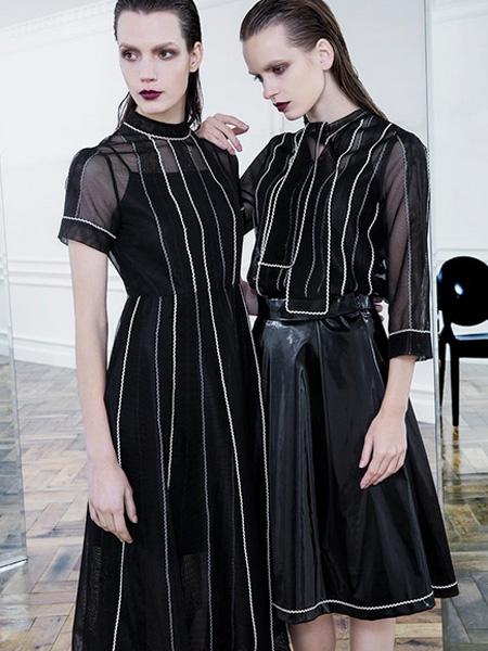 D2M女装2016新品条纹连衣裙