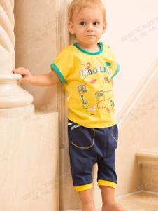 哇喔哇喔2016童装黄色T恤