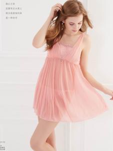 SWEAR思薇尔2016新品粉色蕾丝睡裙