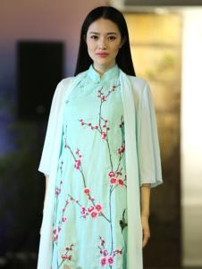 衣植自然2016新品旗袍式长裙