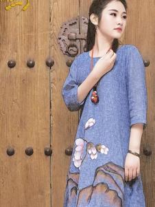 曼茜纱2016新品印花长裙