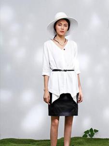 2016熙然女装新款白色上衣