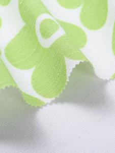 鳳凰莊紡織面料綠色大印花布料