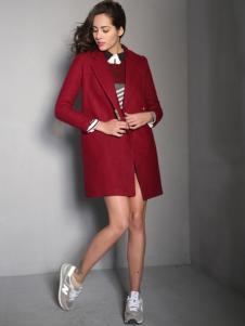 HCLY女装新品呢大衣