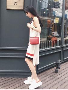 2016WW.JS.DEER女装新款白色连衣裙