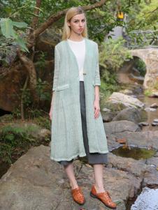 2016蒙杰诗丹女装夏季新款绿色外套