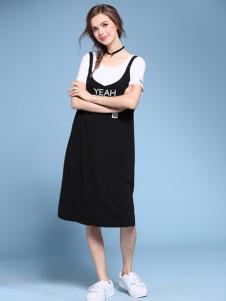 2016维曼缇女装背带连衣裙