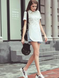 戴芙琳2016新品白色衬衫