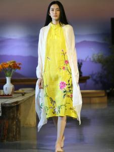 衣植自然2016新品棉麻印花女裙