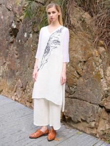 2016蒙杰诗丹女装夏季新款白色连衣裙