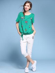 2016维曼缇女装绿色T恤