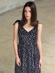 蜜西娅女装2016新款V领连衣裙
