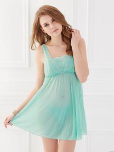 SWEAR思薇尔2016新品泉水绿色性感蕾丝睡裙