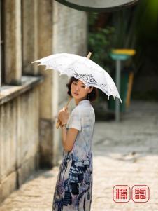 2016渔牌女装新款水墨画旗袍
