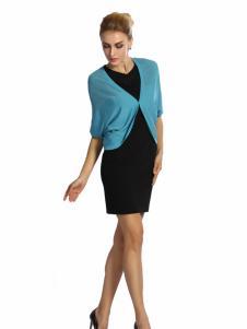 2016蒙迪爱尔新品蓝色针织衫
