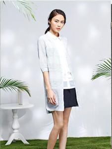 2016熙然女装新款白色外套