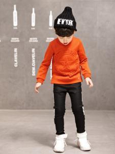 玛玛米雅男童橙色卫衣