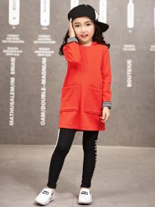玛玛米雅女童橙色卫衣