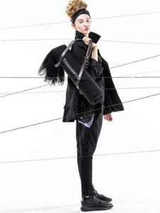 季索女装新品黑色外衣