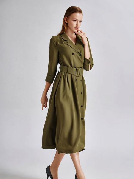 艾露伊LOEY女装秋季新款风衣连衣裙